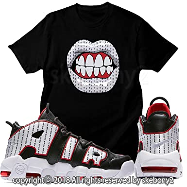 first rate efc3b 0c14c Custom TEE Matching T Shirt Air More Uptempo Pinstripe UTP 1-37-3 at Amazon  Men's Clothing store: