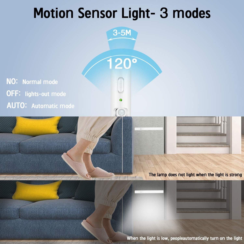 Nachtlicht f/ür K/üche Kleiderschrank LED Sensor Licht 21 LEDs Unterbauleuchte Treppe 3 Pack LED-Lichtleiste Garage K/ühlschrank LED Schranklicht mit Bewegungsmelder