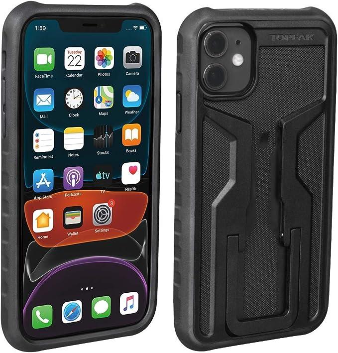 Topeak Unisex Erwachsene Ridecare Für Iphone 11 Smartphonehülle Schwarz Grau Ohne Halter Bekleidung
