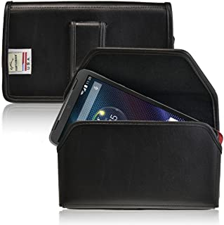 product image for Turtleback Holster Compatible with Motorola Droid Turbo Black Belt Case Leather Pouch with Executive Belt Clip Horizontal Made in USA