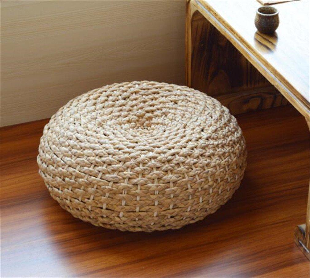 MIRUIKE Rattan Futon Cushion Thickened Round Floor Cushion Straw Cushion Futon Handcrafted Eco-friendly 2PCS