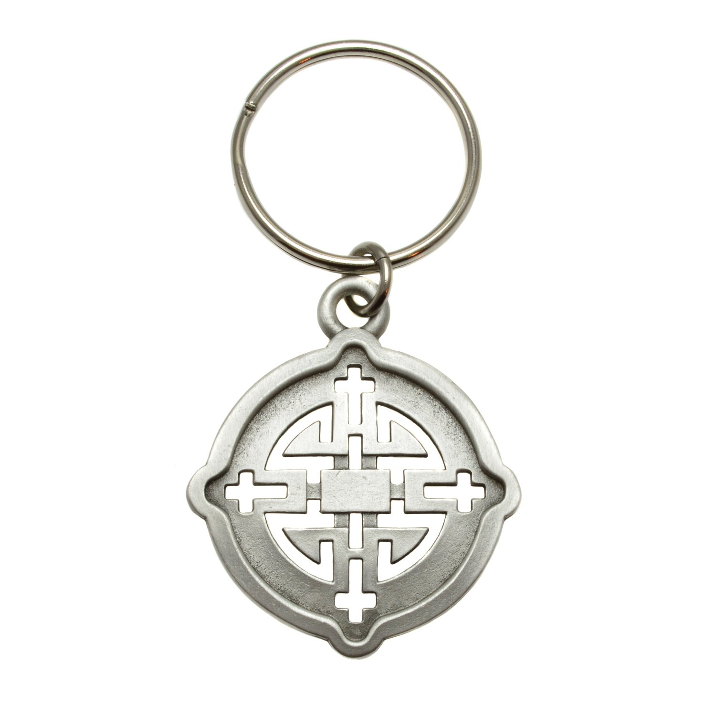 Pewter 381HA 3RealmsHarmony Ancient Symbol Key Ring