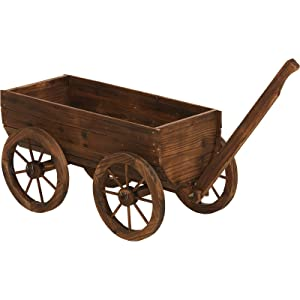 Wooden Wagon Garden Planter