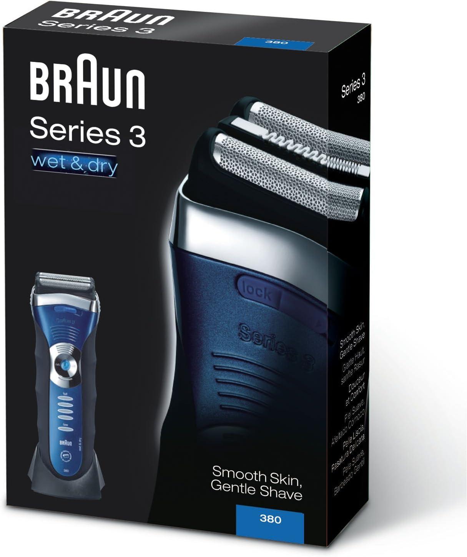 Braun 380 Wet&Dry Afeitadora, Negro y Azul, Inalámbrico, Recargable: Amazon.es: Salud y cuidado personal