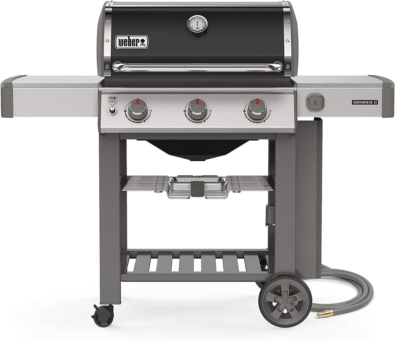 Weber 66011001 Genesis II E-310 Natural Gas 3-Burner Grill, Black