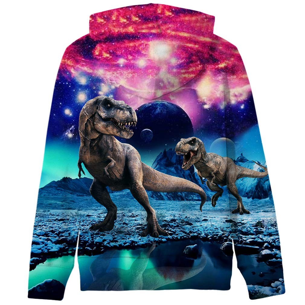 Funnycokid Boys Girls Fleece Hoodies 3D Print Pullover Sweatshirts Hooded Jumpers 5-14Y