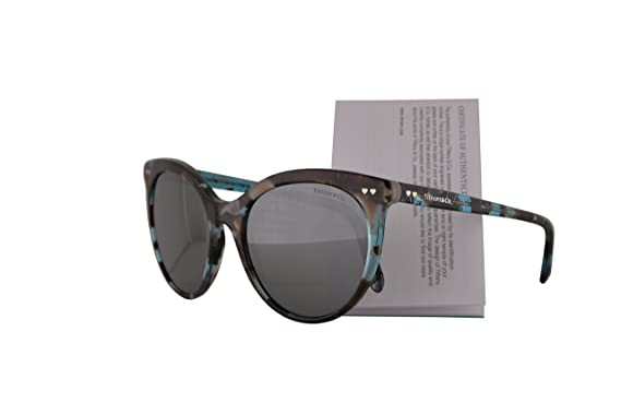 Amazon.com: Tiffany & Co. tf4141 anteojos de sol Havana Azul ...