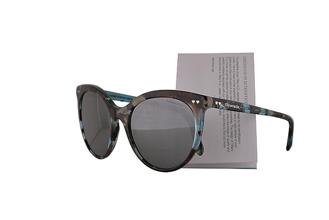 1f062d5ca4 Amazon.com  Tiffany   Co. TF4141 Sunglasses Havana Blue Silver w ...