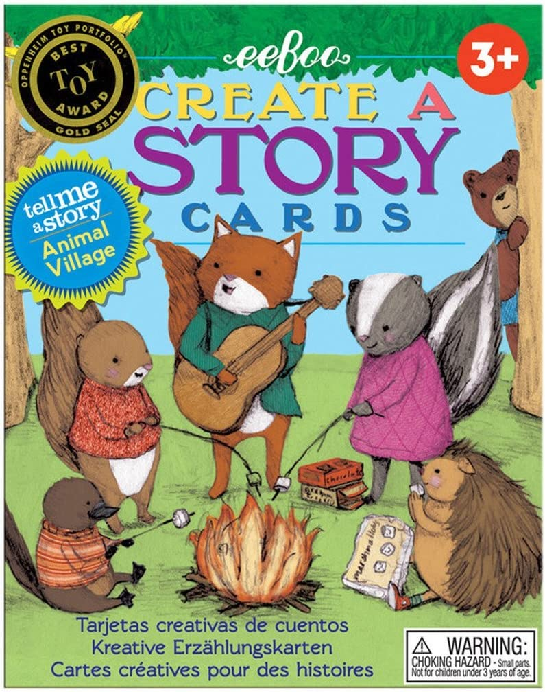 eeBoo Create and Tell Me A Story Cards, Animal Village