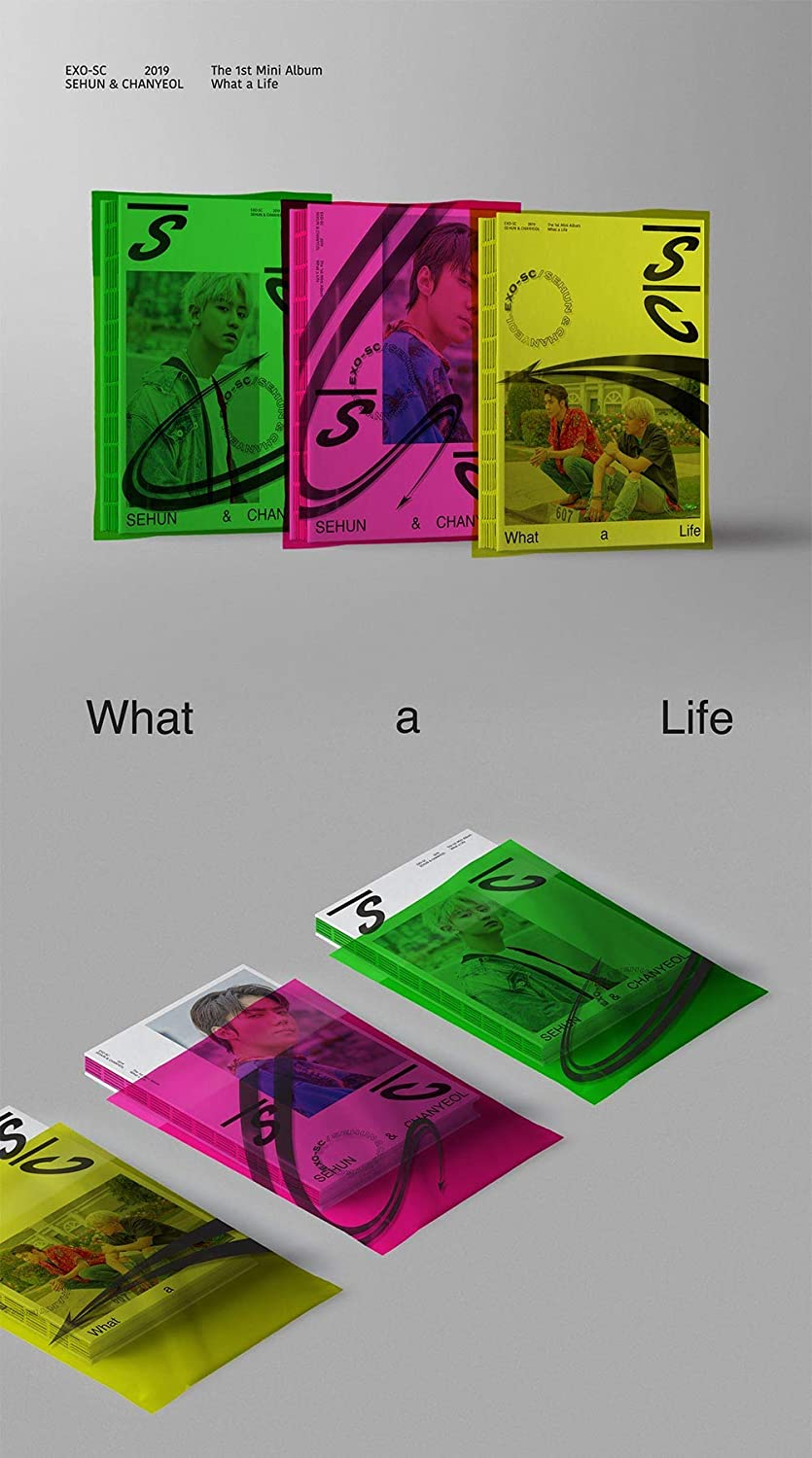 Sm Entertainment Sehun Chanyeol Exo Sc What A Life Random Ver 1st Mini Album Cd Photobook Photocard On Pack Poster Folded Poster Double Side Extra Photocards Set Posters Prints
