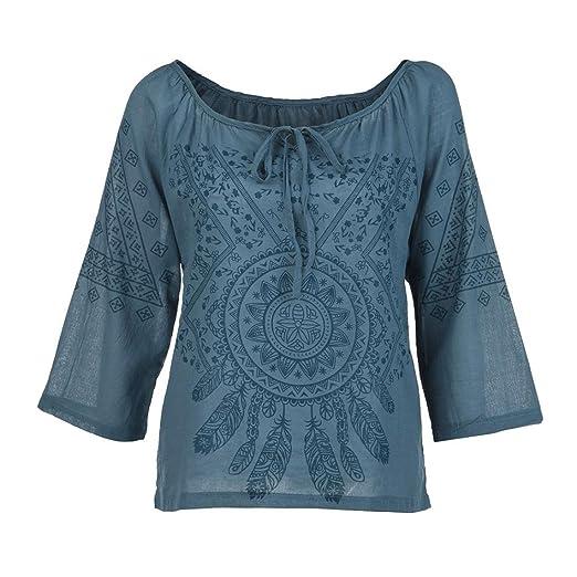 Mujeres Tops Piebo Mujer Mujer Impreso Camiseta Talla Extra Manga 3/4 Blusa Superior: Amazon.es: Ropa y accesorios