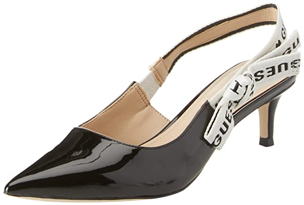 Footwear Dress Sling Back, Scarpe col Tacco Punta Chiusa Donna, Nero, 40 EU Guess