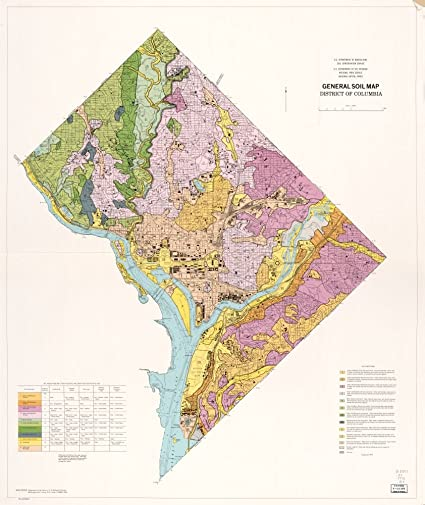 Amazon.com: Vintage 1975 Map of General soil map, District of ...