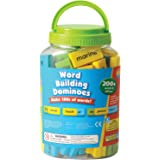 Educational Insights Phonics Dominoes - Word Building, Two-sided Domino Word Building Game for Kids Ages 6 and up, (200+ pieces)