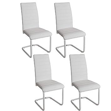Abitti Pack 4 sillas para Comedor o Salon tapizadas en Color ...
