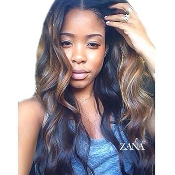 ZANA Glueless Full Lace Human Hair Wigs Body