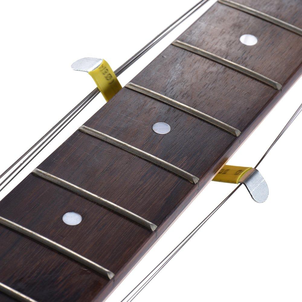 ammoon Separador de Cuerdas de Guitarra Trastes de Luthier Cuerdas Polacas Herramienta Separada de Metal para Folk Classic Acoustic Guitarras Eléctricas ...
