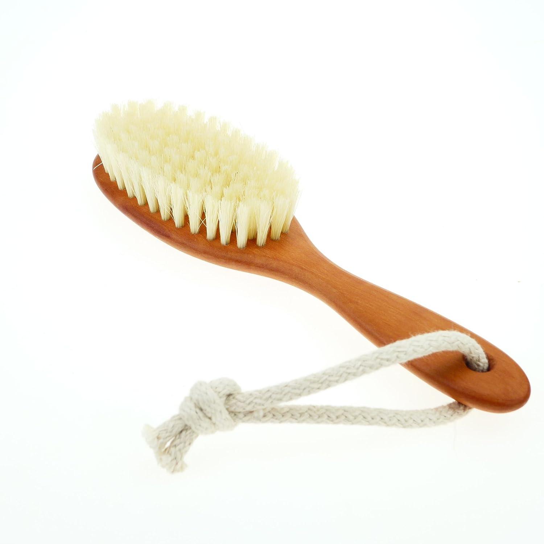 Kinder Haarbürste weiche Naturborsten, Birnbaumholz, Kinderbürste Kinderbürste R&C