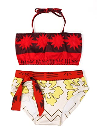 1c59bb54873a1 Jurebecia Princess Moana Swimming Costume for Baby Girls 2 Piece Swimsuit  Bikini Tankini for Toddler Kids