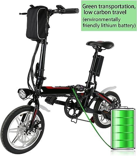 BUSYALL Bicicletas Electricas de Montaña Plegable Ruedas de 14 Pulgadas, E- bike MTB 500W 35 km/