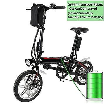 BUSYALL Bicicleta Eléctrica Plegable 500 W 35Km/h Ruedas de 14 Pulgadas Bicicleta de Montaña