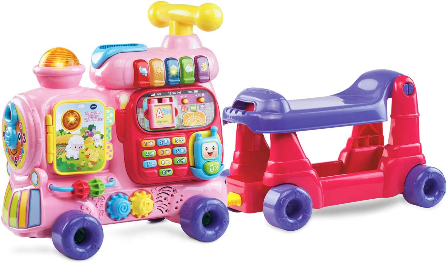 VTech Sit-to-Stand Ultimate Alphabet Train (Frustration Free Packaging), Pink