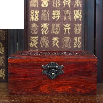 joyero de caoba Cajas de joyería joyería de la Reina Roja caja de caoba de la colección vintage antiguos pequeñas cajas de madera-A: Amazon.es: Hogar