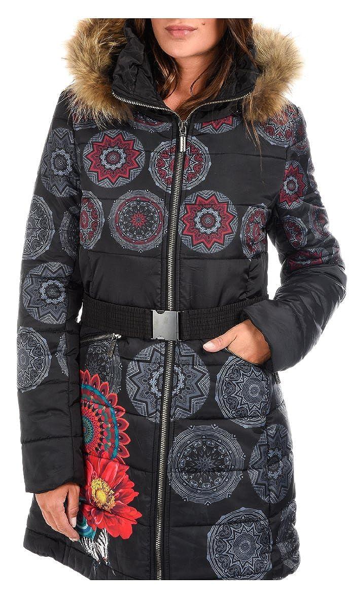 101 IDEES - Abrigo Acolchado ZOE - Mujer - S/M - Negro: Amazon.es: Ropa y accesorios