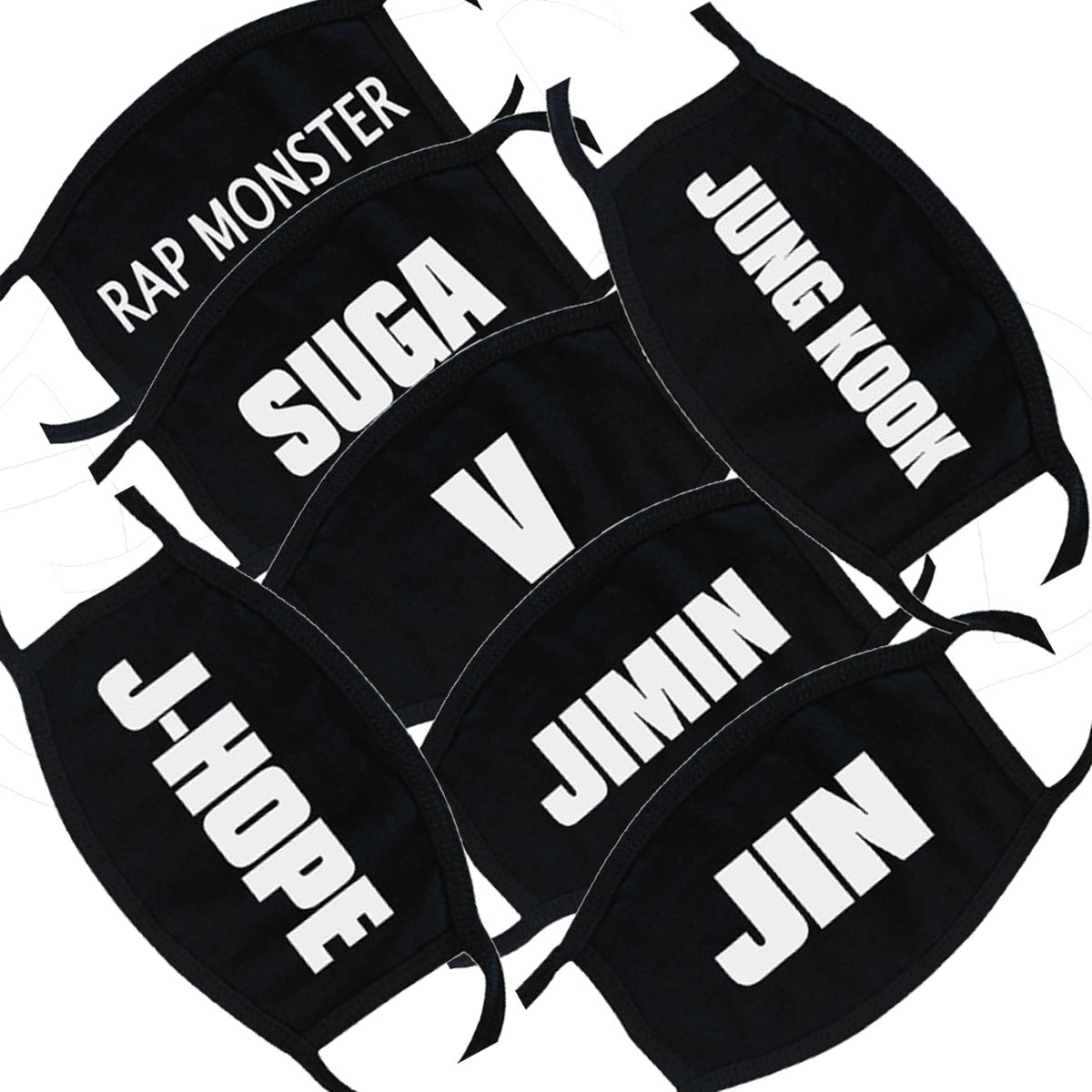Kpop BTS Mouth Mask Jimin V SUGA J-Hope Rap-Monster Face Respirator