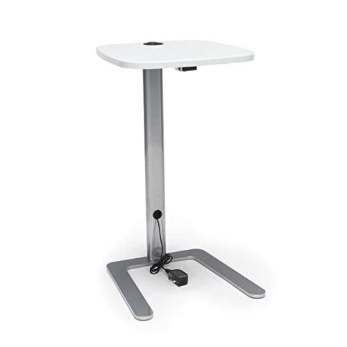 OFM Model ACCTAB Accent Table with USB Grommet, White