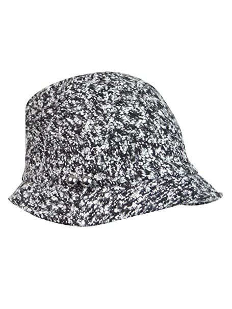 3e48486ea9a August Hats Women s Cloche with Silver Butons One Size Black