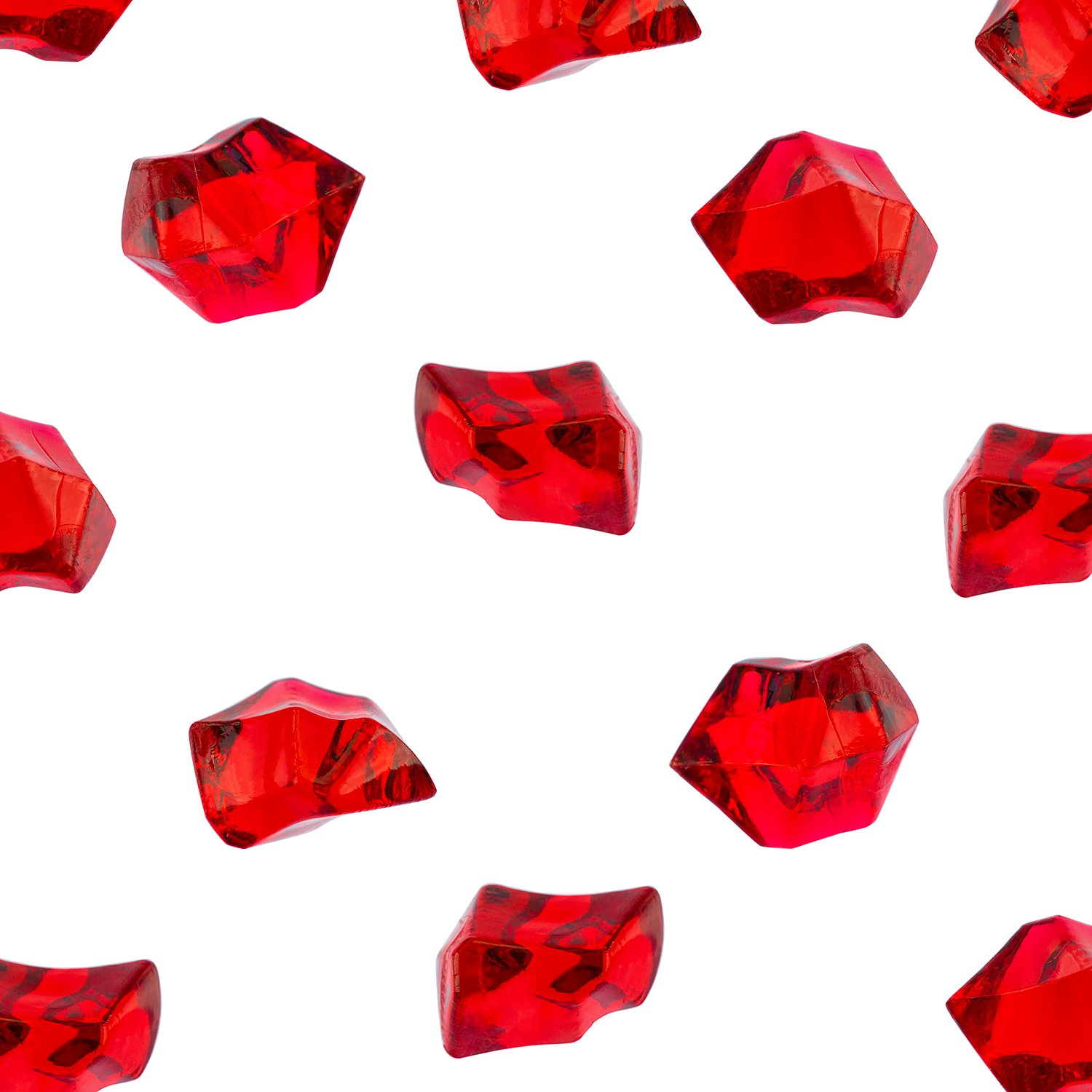 Acrylic Color Ice Rock Crystals Treasure Gems for Table Scatters, Vase Fillers, Event, Wedding, Birthday Decoration Favor, Arts & Crafts (385 Pieces) by Super Z Outlet (Red)