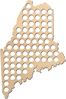 product image for Maine Beer Cap Map - 15.2x23 inches - 74 caps - Beer Cap Holder Maine - Birch Plywood