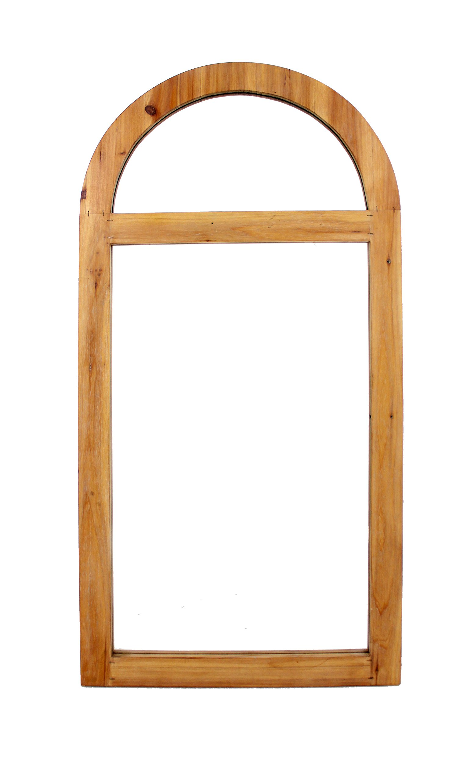 HomeRoots Decor Rustic Dressing Mirror with Minimalist Wooden Window Frame