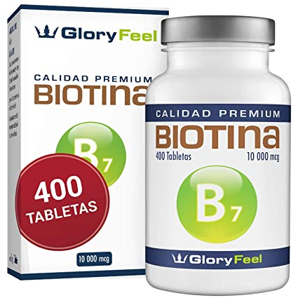 Biotina 10.000 mcg | 400 Comprimidos de Biotina (13 Meses de Suministro) | Vitamina