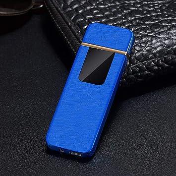 FOONEE Encendedor de Cigarrillos Recargable por USB, sin Llama, con Huella Dactilar, sin