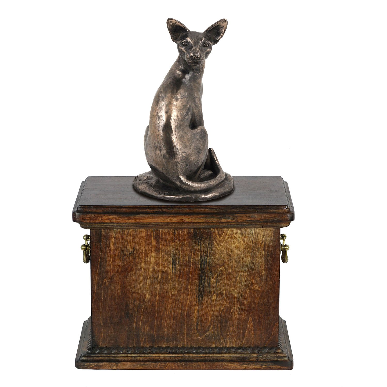 Egyptian Cat, memorial, urn for cat's ashes, with a cat statue, ArtDog