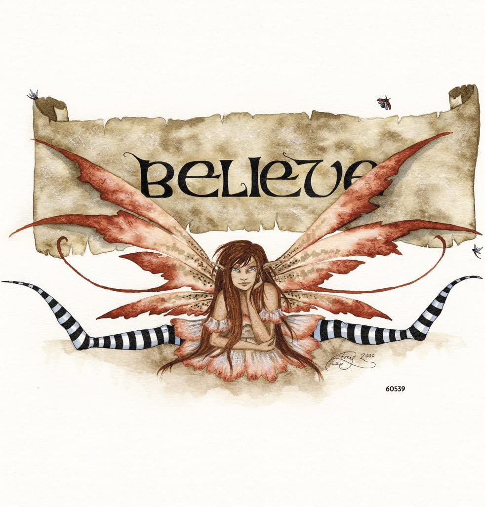 Tree-Free Greetings Refrigerator Magnet, 3.5x3.5 Inches, Believe Fairy by Amy Brown (60539)