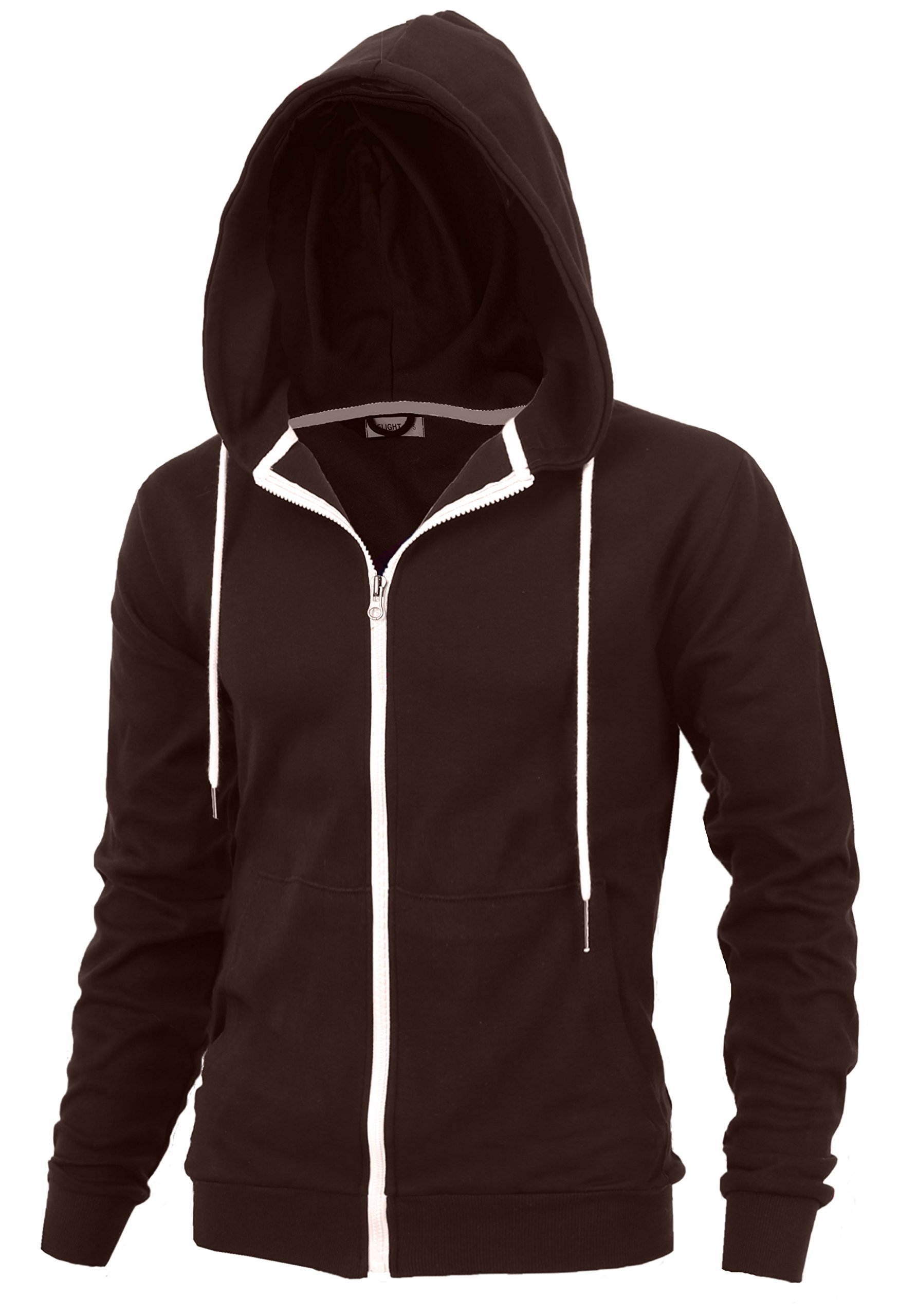 "DELight"" Men's Fashion Fit Full-Zip Hoodie with"