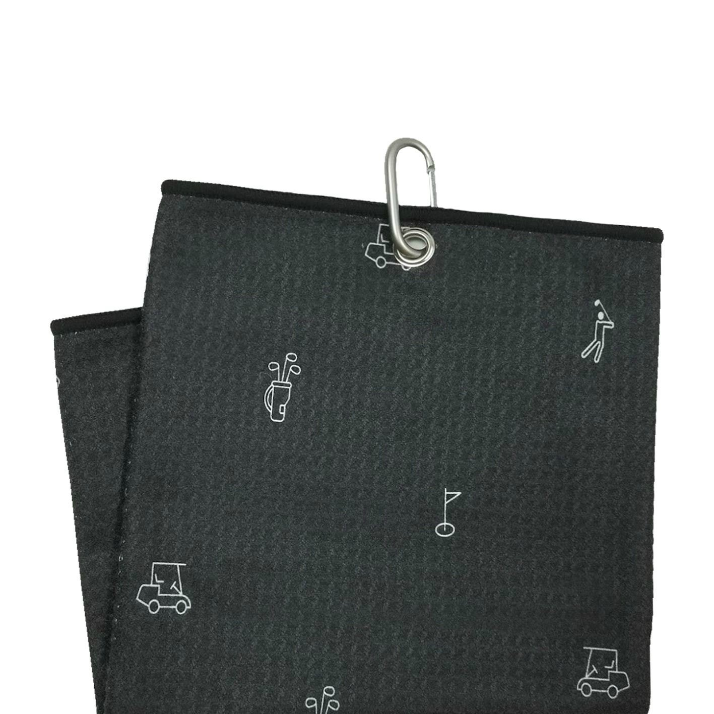 Iconic Midnight by Uther - Tri-Fold Microfiber Golf Towel