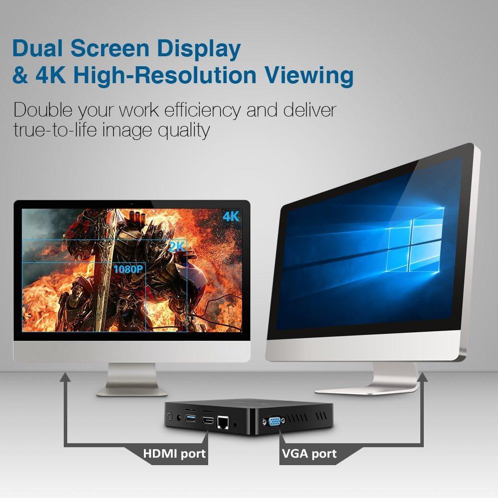Alfawise Z83V Mini PC Intel TV Box Atom X5 de Z8350 Procesador 1.92 GHz/2 GB RAM/32 GB ROM/400 GPU 4K Bluetooth 4.0 WiFi: Amazon.es: Informática