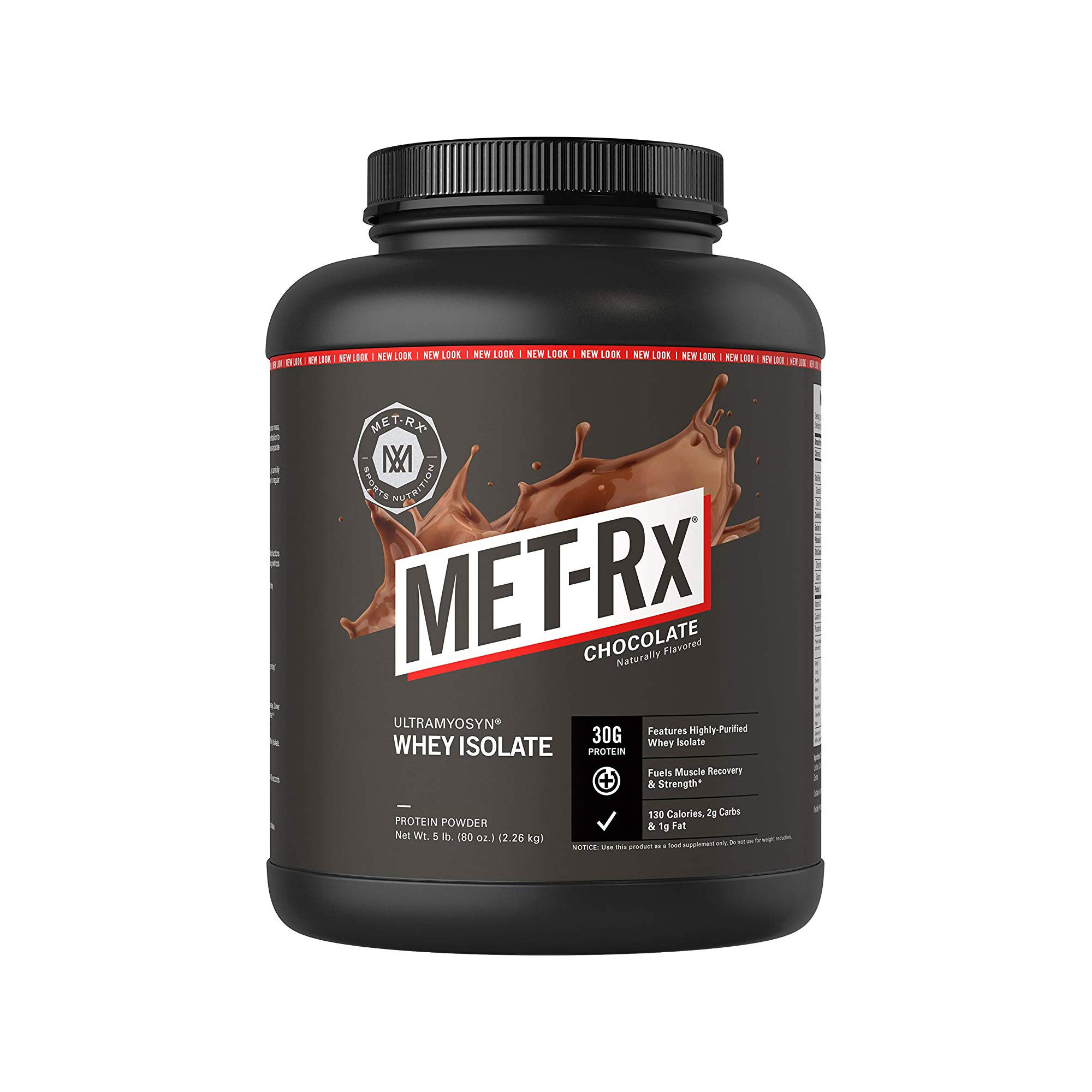 MET-Rx Ultramyosyn Whey Protein Isolate Powder, Great for Meal Replacement Shakes, Low Carb, Gluten Free, Chocolate, 5 lbs by MET-Rx