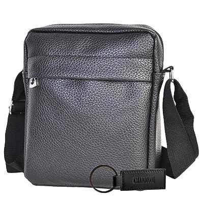 e2d0f45e7f Charmoni® - Sac pochette sacoche à bandoulière et sa porte clé cuir en cuir  synthétique