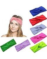 Lanzom 8 Pieces Women Fashion Elastic Hair Band Turban Head Band Hair Accessories