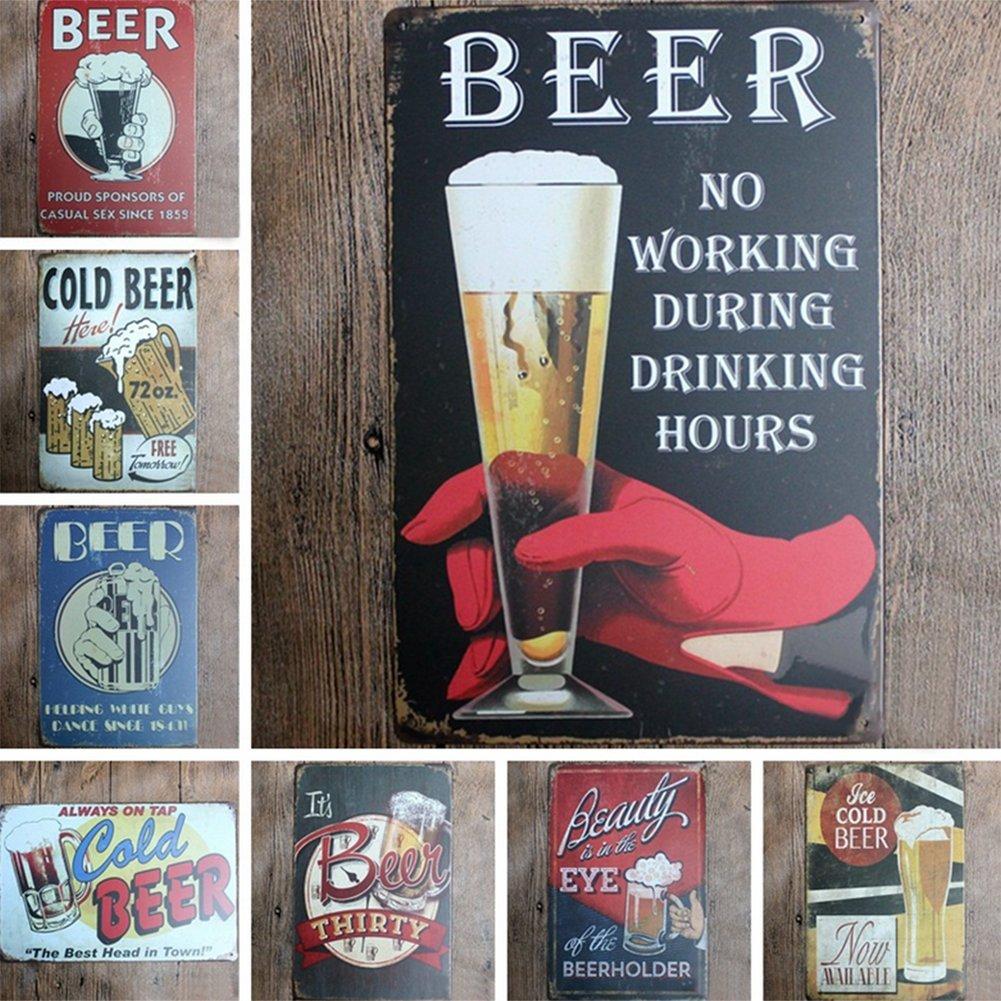 kentop Retro Cartel de chapa cerveza Pintura P/óster Metal Publicidad Pared/ para bar Coffee Shop Home pared decoraci/ón /R/ótulo para puerta