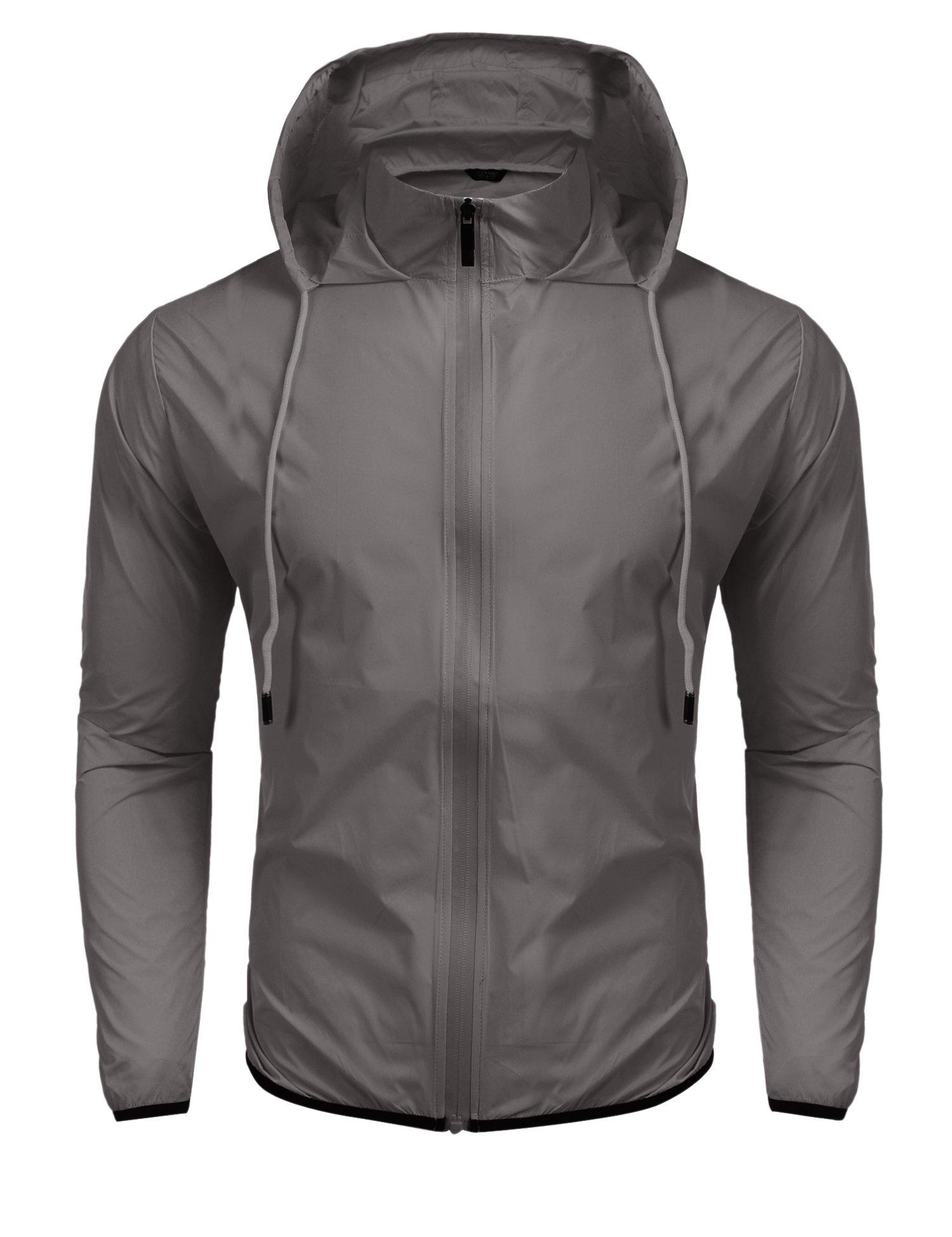 Jinidu Men's Cycling Skin Coat Jersey Bicycle Windproof Jacket Rain Coat (Medium, Light Khaki) by Jinidu (Image #2)
