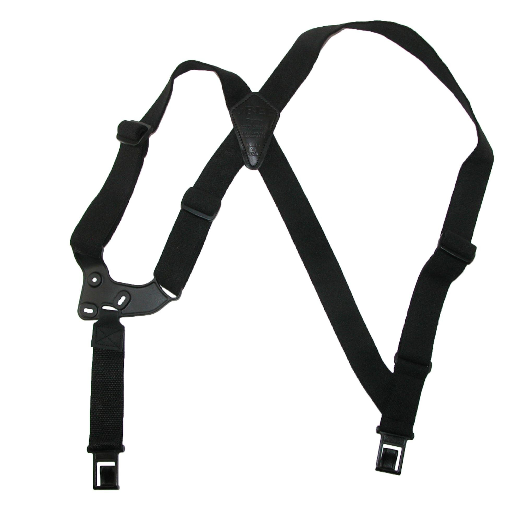 Perry Suspenders Elastic Right Handed UBEE Shoulder Harness, Black