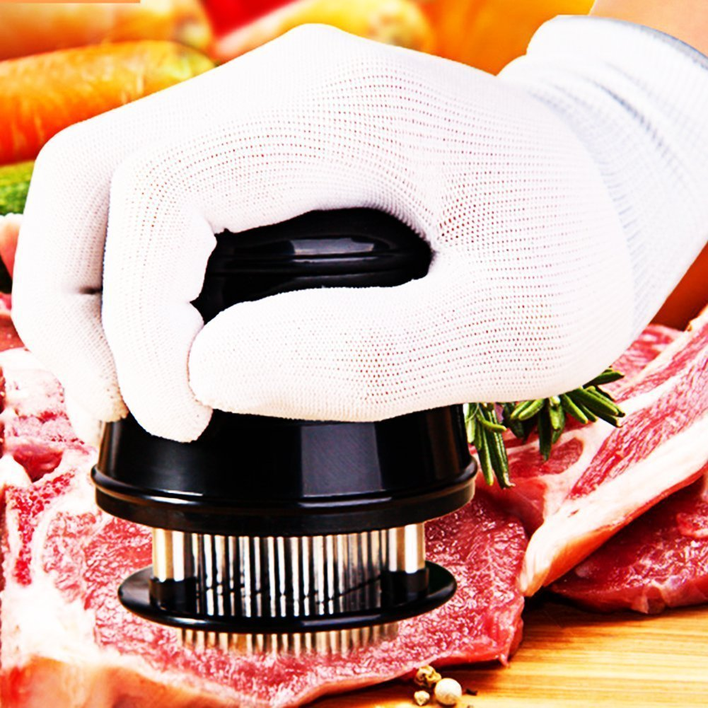 Vizpet Meat Tenderizer Tool 56 Stainless Steel Blades Kitchen Cooking Tool for Chicken Steak Beef Pork Fish Best choice for Cooking and BBQ