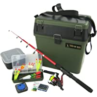 Roddarch Complete Junior Beginners Fishing Kit & Tackle Seat Box Set