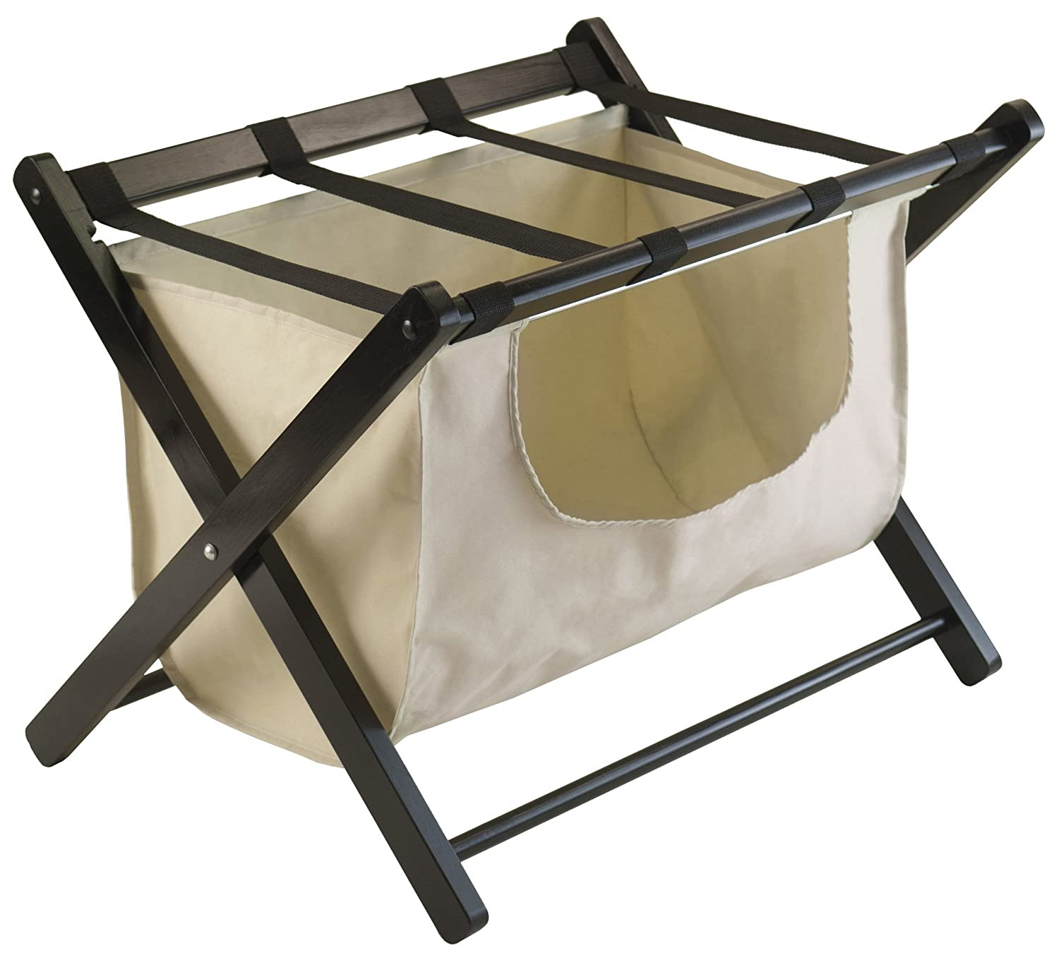 Winsome Wood Dora Luggage Rack with Removable Fabric Basket 92535